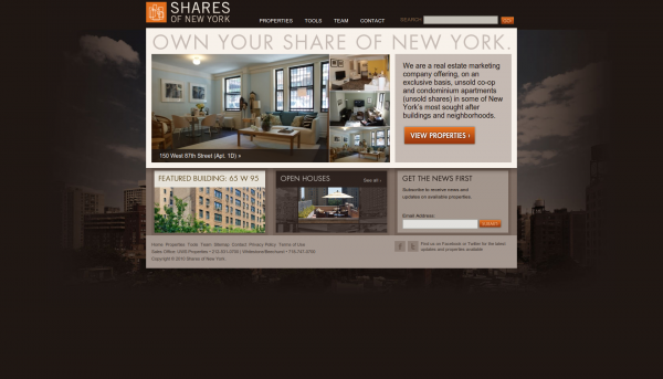 Shares of New York Home Page